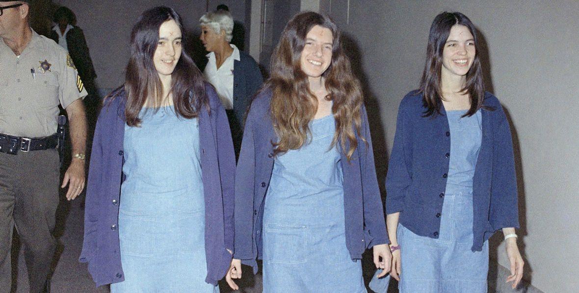 od lewej: Susan Atkins, Patricia Krenwinkel i Leslie van Houten.
