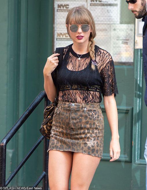 Taylor Swift w cętkowanej mini. Coś poszło nie tak