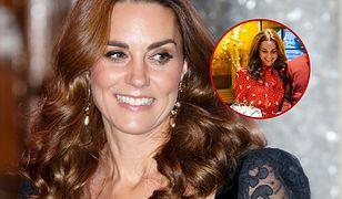 Księżna Kate gotuje w czerwonej sukience. Przygotowuje przyjęcie bożonarodzeniowe
