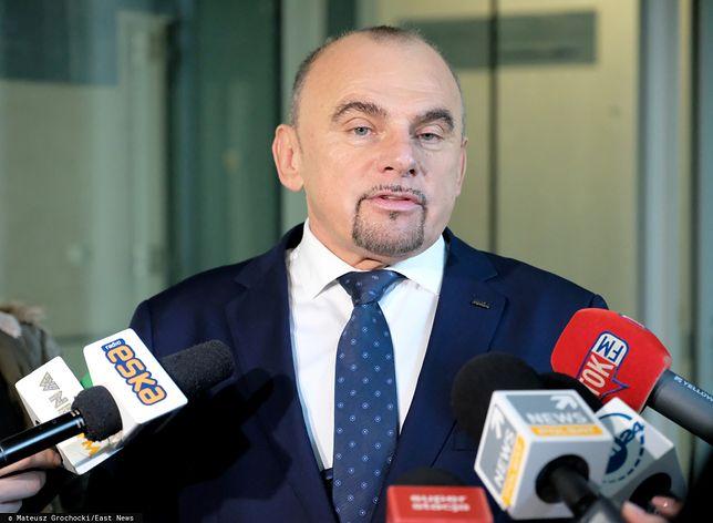 """O interwencji """"S"""" ws. bisfenolu poinformował Alfred Bujara (na zdjęciu)."""