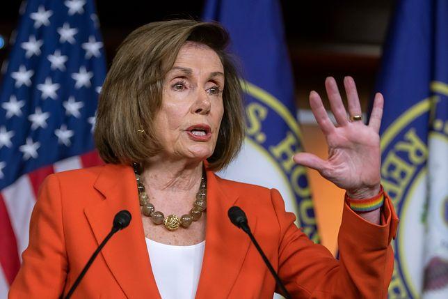 USA. Spikerka Izby Reprezentantów Nancy Pelosi (Partia Demokratyczna)