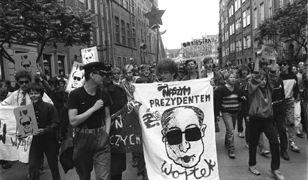 Happening młodzieży w Gdańsku przed wyborami czerwcowymi w 1989 r.