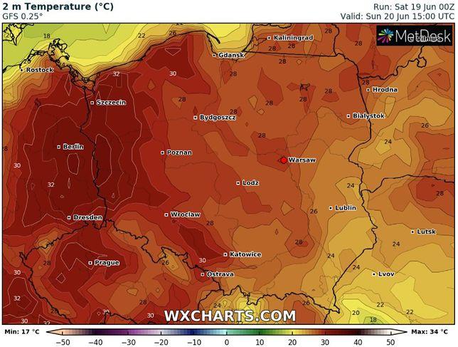 Pogoda. Alerty IMGW. Tropikalny żar i burze