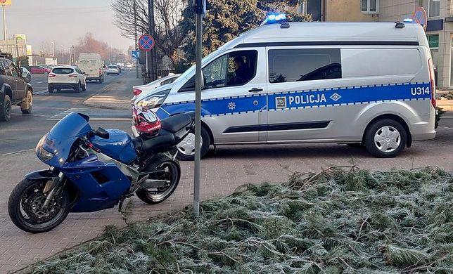 Policja zatrzymała kierującego motocyklem