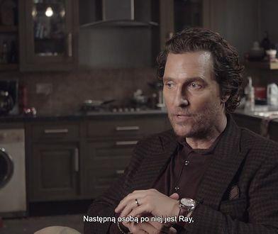 """""""Dżentelmeni"""": Matthew McConaughey zachwyca się filmową żoną i reżyserem. Guy Ritchie zainteresował go... modą"""