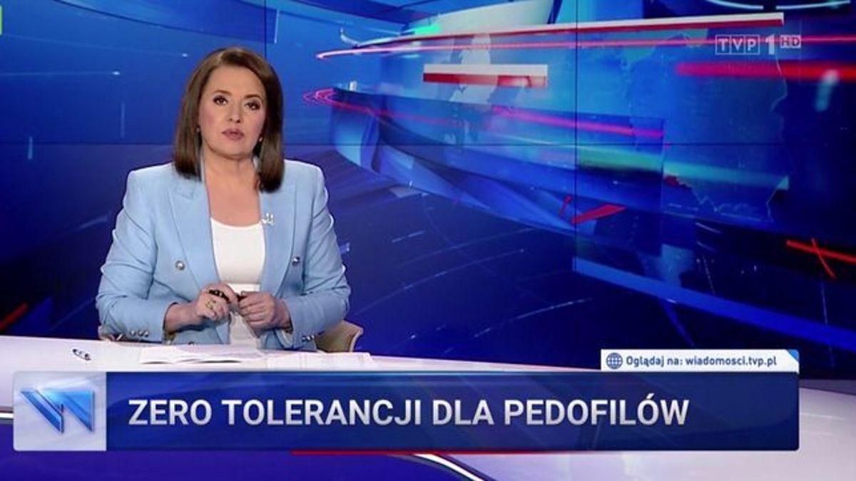 """Tak wyglądał pasek o pedofilii w Kościele w poniedziałkowych """"Wiadomościach"""""""
