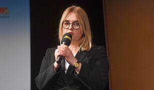 Europosłanka Magdalena Adamowicz podczas uroczystości wręczenia Gdańskiej Nagrody Równości im. Pawła Adamowicza