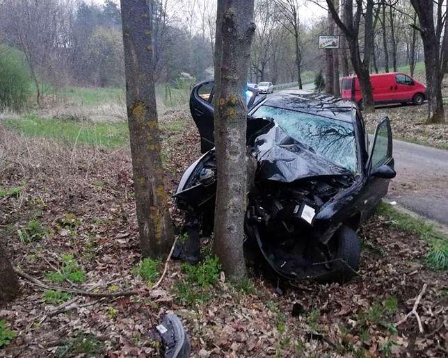 Świętokrzyskie. Wypadek w Jasieniu. Nie żyje 36-latek