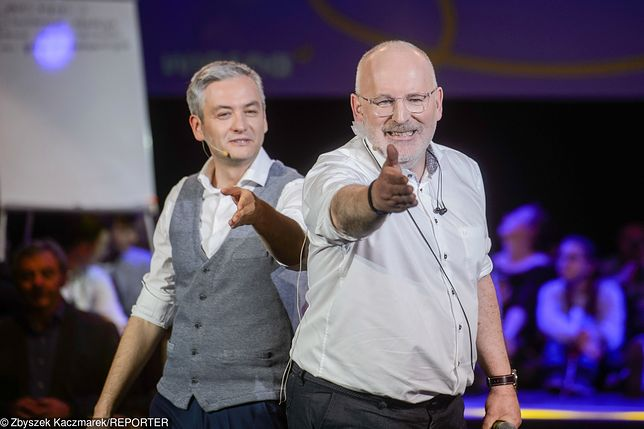 Wybory do europarlamentu. Robert Biedroń i Frans Timmermans