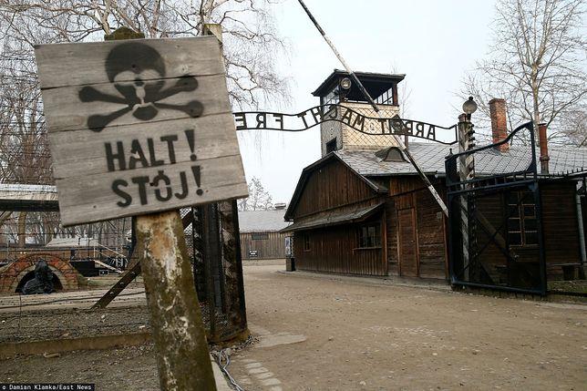 Główna brama obozu Auschwitz.