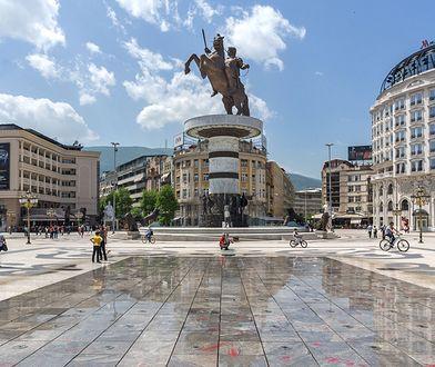 Pomnik Aleksandra Wielkiego w Skopje, stolicy Macedonii