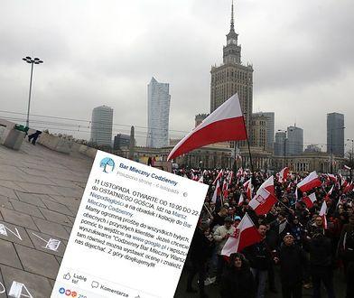 """""""Polacy powinni jeść w polskich lokalach"""". Właściciel baru zaprasza uczestników Marszu Niepodległości na obiad"""