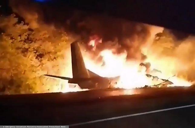 Ukraina. Tragedia w obwodzie charkowskim. Samolot rozbił się podczas lądowania