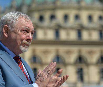 Prezydent Krakowa Jacek Majchrowski. (Photo by Artur Widak/NurPhoto via Getty Images)