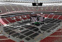 Warszawa. Stadion Narodowy. Mecz Polska - Hiszpania na czterech telebimach