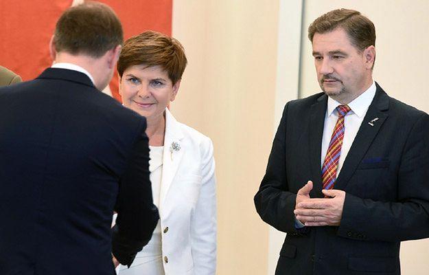 Piotr Duda i Beata Szydło na spotkaniu z prezydentem