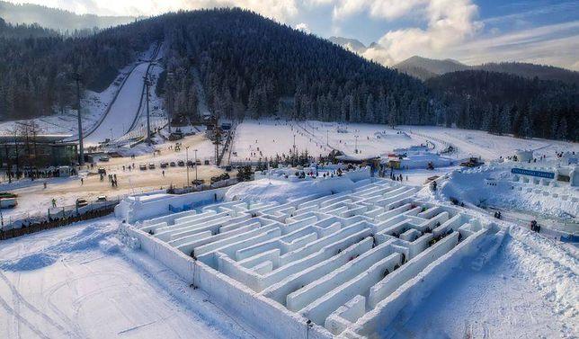 Największy śnieżny labirynt na świecie. Powstał w Zakopanem