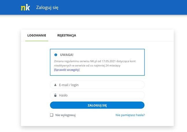 Komunikat od administracji NK.pl