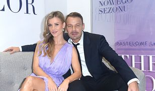 Dawid Woliński i Joanna Krupa cali na biało. Brzuch rośnie, przyjaźń kwitnie