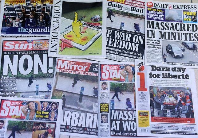 """Okładki gazet po ataku na redakcję """"Charlie Hebdo"""""""
