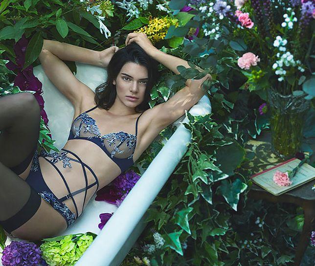 Kendall Jenner w jesiennej bieliźnie La Perla