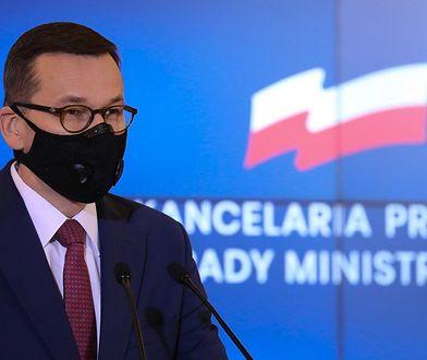 Premier Mateusz Morawiecki podczas konferencji prasowej (zdj. arch.)