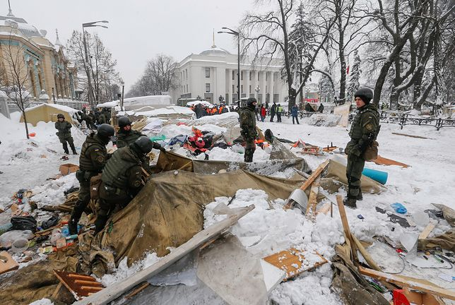 Zamieszki w Kijowie. Rannych siedmiu policjantów i kilkunastu protestujących