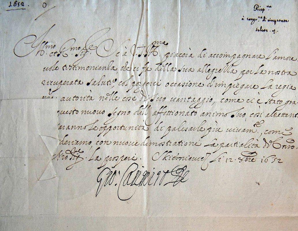Do Zamku Królewskiego trafiły cenne, XVII-wieczne dokumenty. W tym list króla Jana Kazimierza
