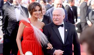 Dominika Kulczyk w czerwonej kreacji na imprezie w Cannes