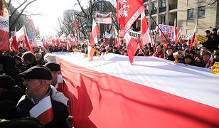 Manifestacja poparcia dla reformy sądownictwa w Warszawie.