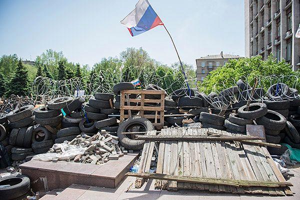 Siedziba separatystów w Doniecku