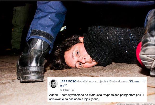 Pisarka została zatrzymana przed pałacem prezydenckim.