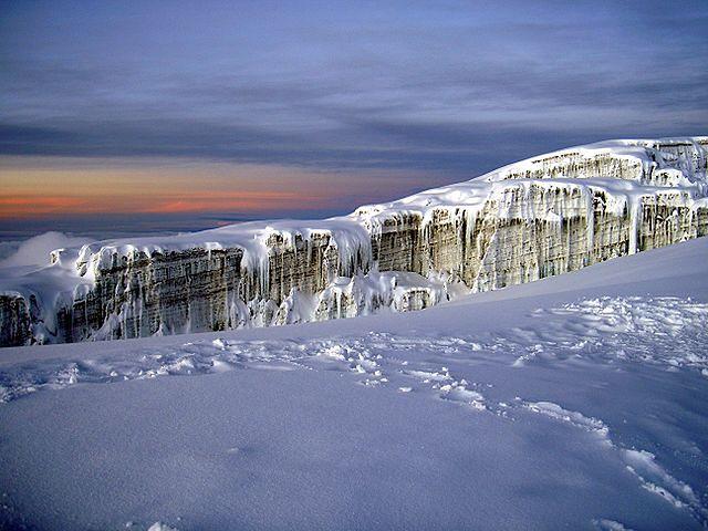 Południowy lodowiec Kilimandżaro