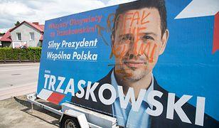 Wywiesił baner Trzaskowskiego. Jego posesja została zdewastowana