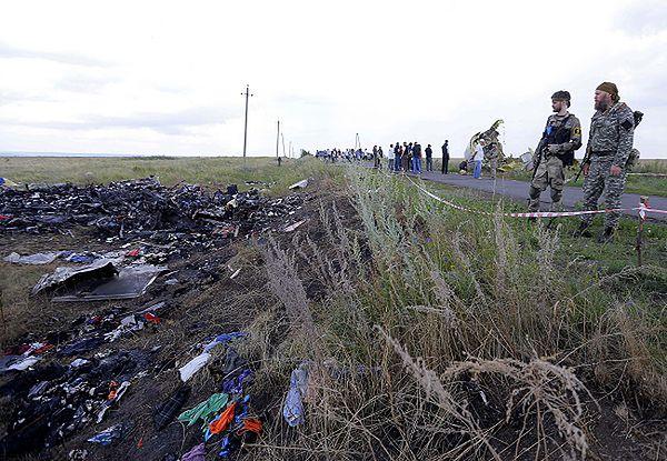 Miejsce katastrofy malezyjskiego samolotu