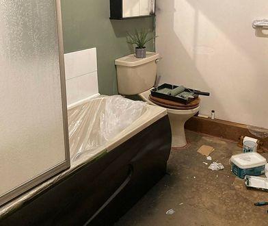 Koszt remontu łazienki cię przeraża? Ona zrobiła to za 50 funtów. Efekt powala