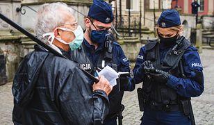 Koronawirus. Polska. Kary za nieprzestrzeganie obostrzeń (zdjęcie ilustracyjne)
