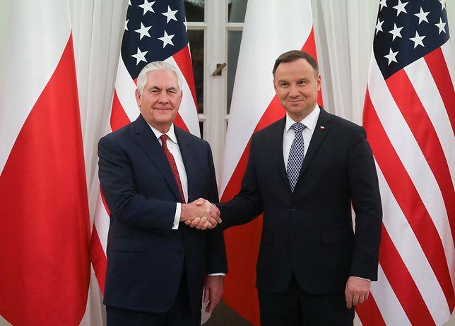 Rex Tillerson w Polsce. Amerykański sekretarz stanu spotkał się z Andrzejem Dudą