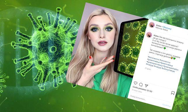 Makijaż inspirowany koronawirusem. Internauci nie kryją oburzenia