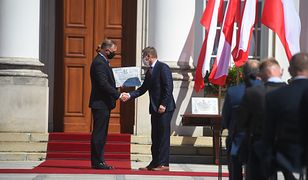Warszawa. Andrzej Duda wręczył pamiątkowe tablice