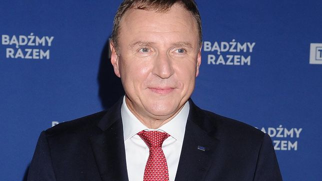 Jacek Kurski na ramówce TVP podziękował żonie. Zaskoczył zebranych
