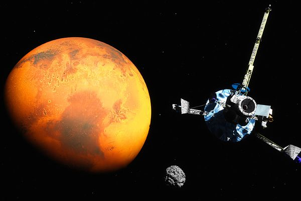 Pierwsze obrazy górnej atmosfery Marsa z sondy MAVEN