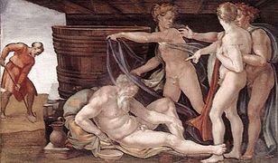 """""""Pijaństwo Noego"""", Michał Anioł, 1509 r."""