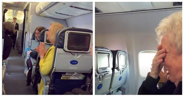 Wzruszający moment, kiedy pilot zaskoczył mamę w trakcie lotu