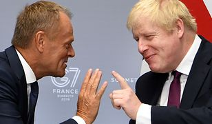 Donald Tusk i Boris Johnson