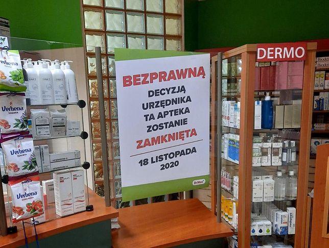 Apteka zostanie zamknięta, bo zdaniem urzędników zagraża życiu pacjentów. Jak? Bo działa.