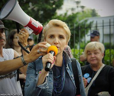 Joanna Scheuring-Wielgus wspierała sejmowy protest rodziców osób niepełnosprawnych