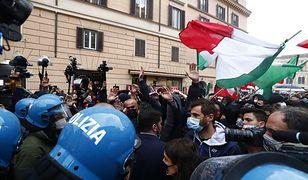 Włochy. Gwałtowny protest przeciwko obostrzeniom w Rzymie