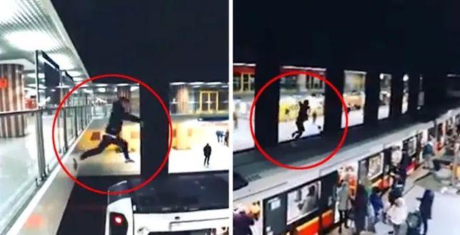 Warszawa. Wskoczył na dach metra, usłyszał zarzuty
