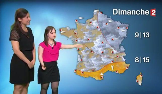 Kobieta z zespołem Downa pogodynką we francuskiej telewizji